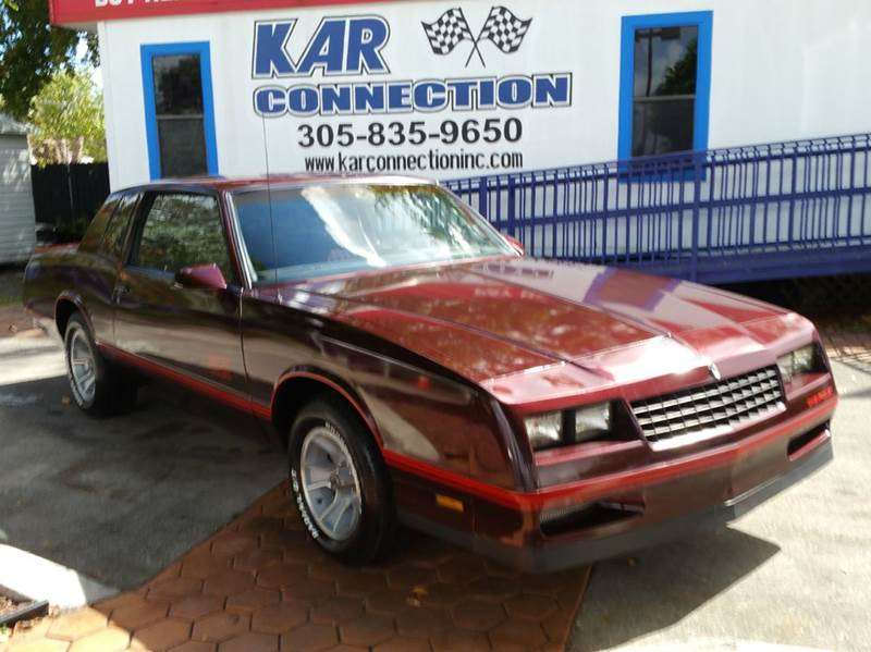 1987 Chevrolet Monte Carlo SS 2dr Coupe In Miami FL  Kar Connection