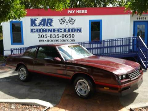 1987 Chevrolet Monte Carlo for sale at Kar Connection in Miami FL
