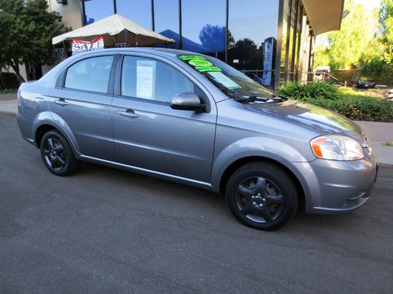 2010 CHEVROLET AVEO LT 4DR SEDAN W1LT urban gray  great 34 mpg highway economy car  clean ca