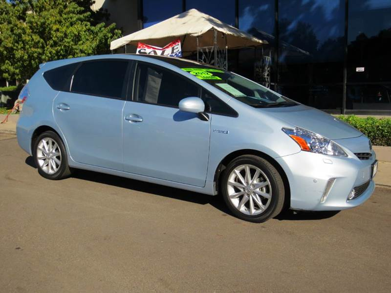 2012 TOYOTA PRIUS V FIVE 4DR WAGON clear sky metallic blue  advanced technology package  nav