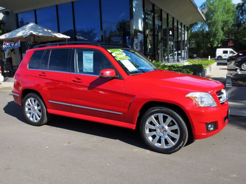 2010 MERCEDES-BENZ GLK GLK350 4DR SUV mars red  nicely equipped with premium pkg multimedia pk
