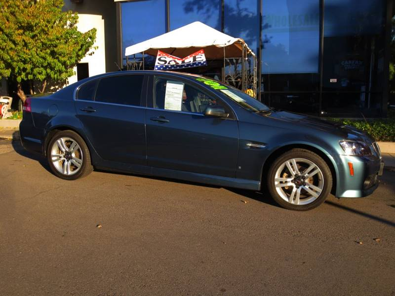 2009 PONTIAC G8 BASE 4DR SEDAN pacific slate metallic  g8 like new  a must see  carfax 1-own