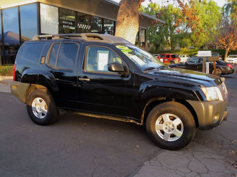 2007 NISSAN XTERRA S 4DR SUV 4L V6 5A black sharp sporty suv with alloys luggage rack power g