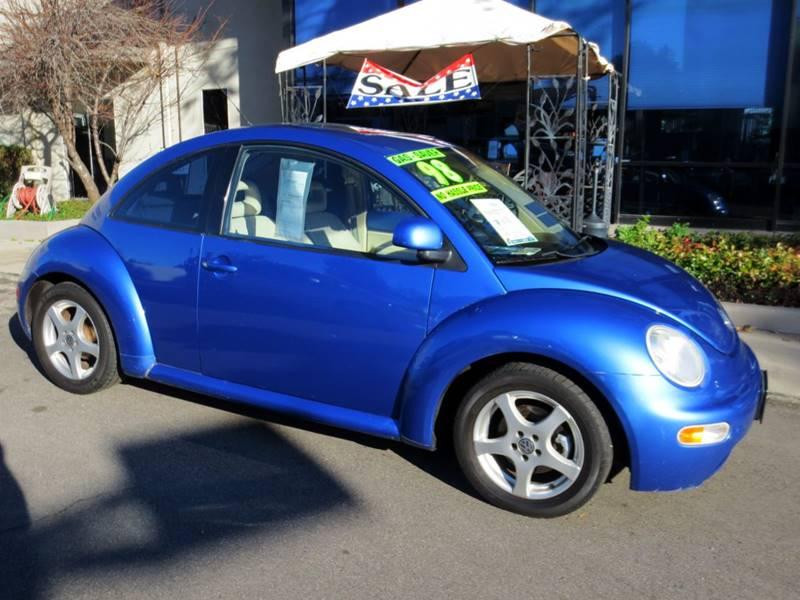 1998 VOLKSWAGEN NEW BEETLE BASE 2DR HATCHBACK blue  1 owner local car w service records only