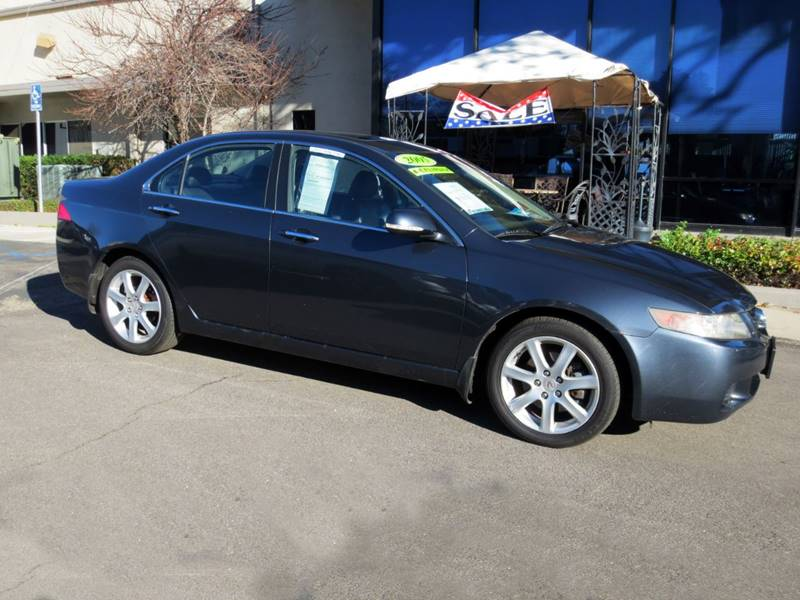 2005 ACURA TSX BASE 4DR SEDAN charcoal nicely equipped with moon roof leather power group  lo