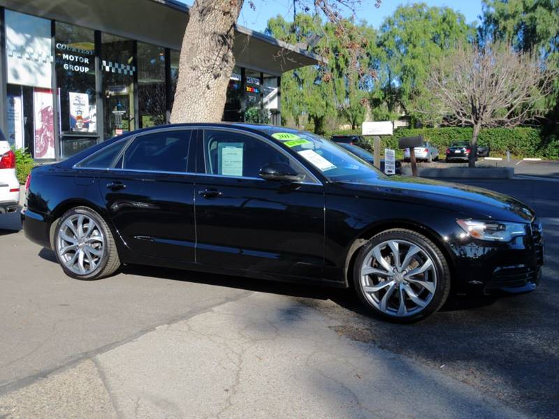 2013 AUDI A6 20T QUATTRO PREMIUM PLUS AWD 4D brilliant black   black on black premium plus qu