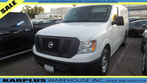 2017 Nissan NV Cargo for sale in Pacoima, CA