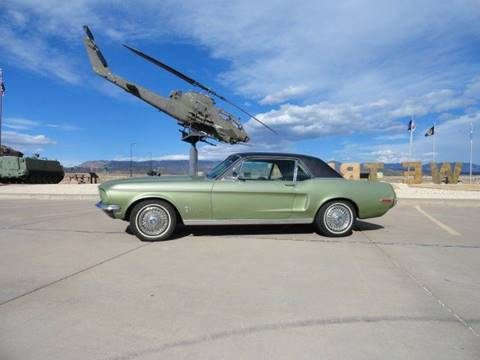 1968 Ford Mustang for sale at Pikes Peak Motor Co in Penrose CO