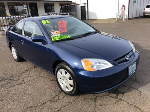 2001 Honda Civic for sale at Freeborn Motors in Lafayette, OR