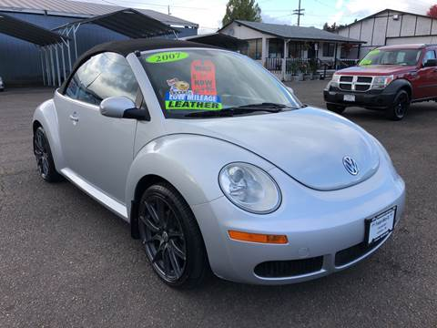 2007 Volkswagen New Beetle Convertible for sale at Freeborn Motors in Lafayette, OR
