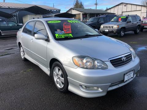 2005 Toyota Corolla for sale at Freeborn Motors in Lafayette, OR