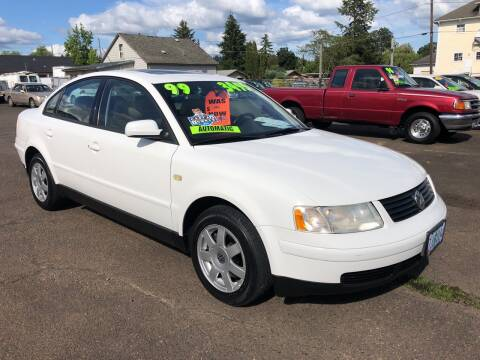 1999 Volkswagen Passat for sale at Freeborn Motors in Lafayette, OR