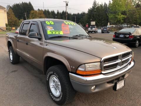 2000 Dodge Dakota for sale at Freeborn Motors in Lafayette, OR