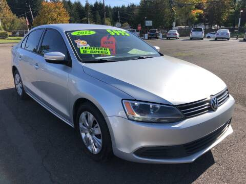 2012 Volkswagen Jetta for sale at Freeborn Motors in Lafayette, OR