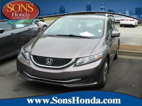 2015 Honda Civic for sale in Mcdonough, GA