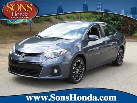 2015 Toyota Corolla for sale in Mcdonough, GA