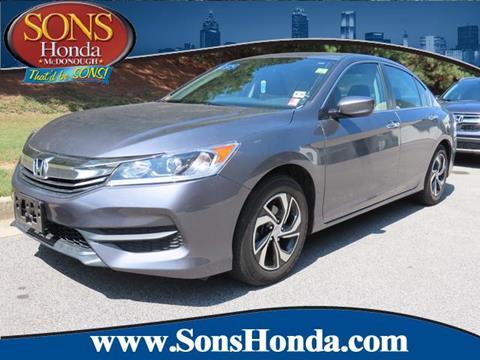 2017 Honda Accord for sale in Mcdonough, GA