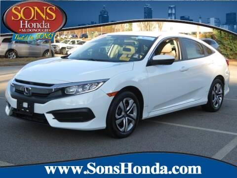 2018 Honda Civic for sale in Mcdonough, GA