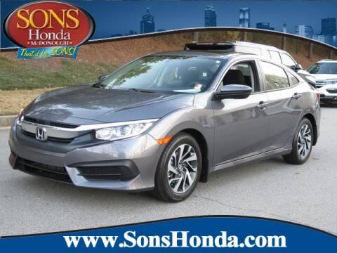 2017 Honda Civic for sale in Mcdonough, GA