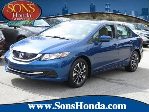 2015 Honda Civic EX for sale at SONS Honda in Mcdonough GA