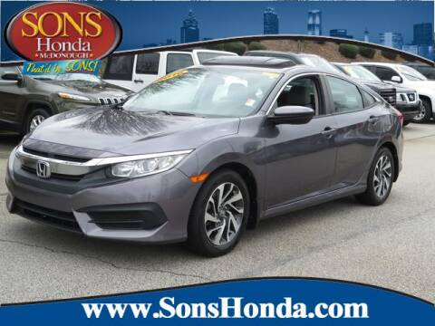 2016 Honda Civic EX for sale at SONS Honda in Mcdonough GA
