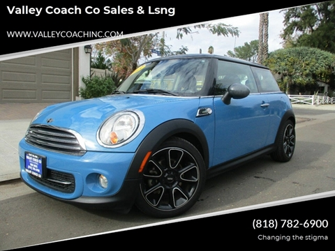 2013 MINI Hardtop for sale at Valley Coach Co Sales & Lsng in Van Nuys CA