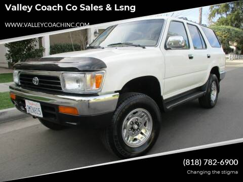 1995 Toyota 4Runner for sale at Valley Coach Co Sales & Lsng in Van Nuys CA