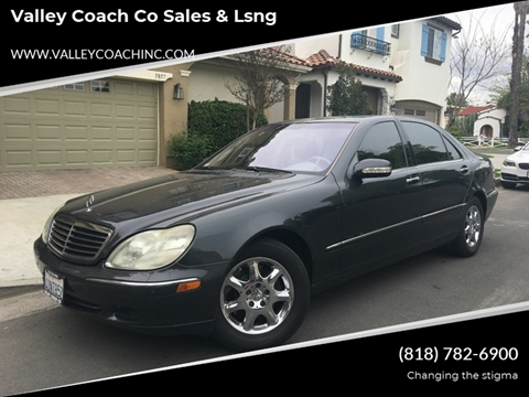 2002 Mercedes-Benz S-Class for sale at Valley Coach Co Sales & Lsng in Van Nuys CA