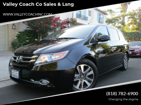 2014 Honda Odyssey for sale at Valley Coach Co Sales & Lsng in Van Nuys CA