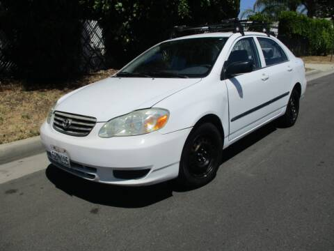 2003 Toyota Corolla for sale at Valley Coach Co Sales & Lsng in Van Nuys CA