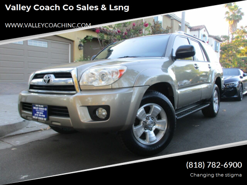 2006 Toyota 4Runner for sale at Valley Coach Co Sales & Lsng in Van Nuys CA