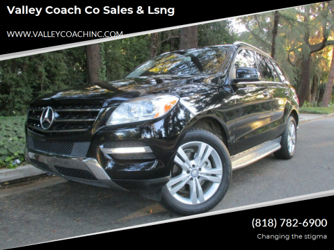 2013 Mercedes-Benz M-Class for sale at Valley Coach Co Sales & Lsng in Van Nuys CA