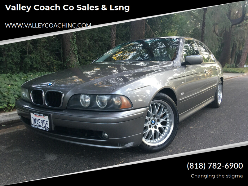 2002 BMW 5 Series for sale at Valley Coach Co Sales & Lsng in Van Nuys CA