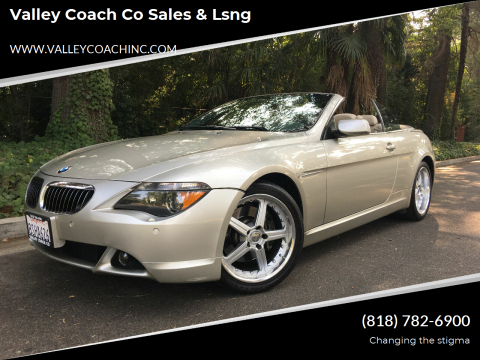 2004 BMW 6 Series for sale at Valley Coach Co Sales & Lsng in Van Nuys CA