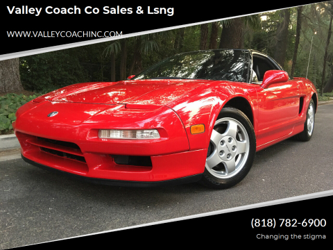 1991 Acura NSX for sale at Valley Coach Co Sales & Lsng in Van Nuys CA