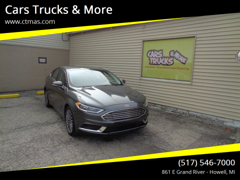 2018 Ford Fusion for sale at Cars Trucks & More in Howell MI