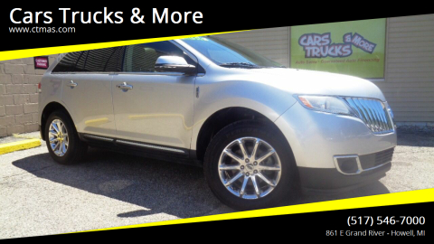 2014 Lincoln MKX for sale at Cars Trucks & More in Howell MI