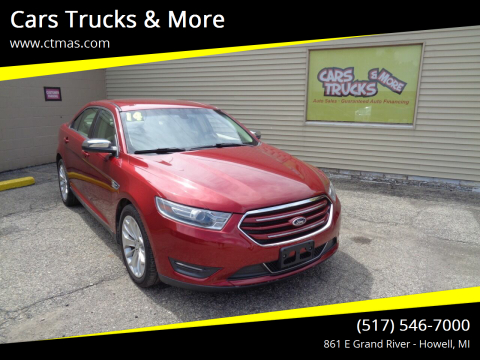 2014 Ford Taurus for sale at Cars Trucks & More in Howell MI