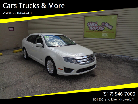 2012 Ford Fusion Hybrid for sale at Cars Trucks & More in Howell MI
