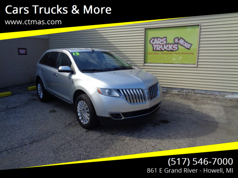 2013 Lincoln MKX for sale at Cars Trucks & More in Howell MI