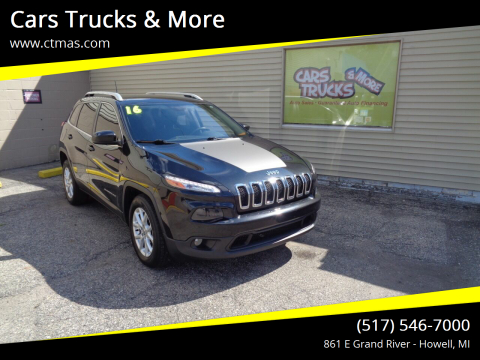 2016 Jeep Cherokee for sale at Cars Trucks & More in Howell MI