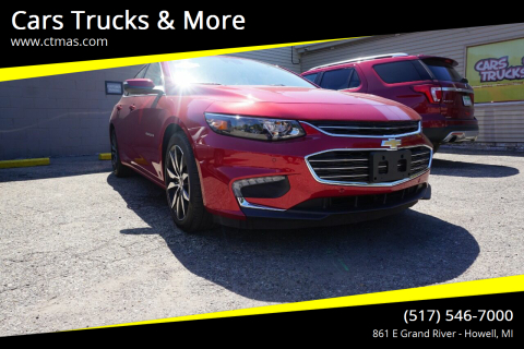2016 Chevrolet Malibu for sale at Cars Trucks & More in Howell MI
