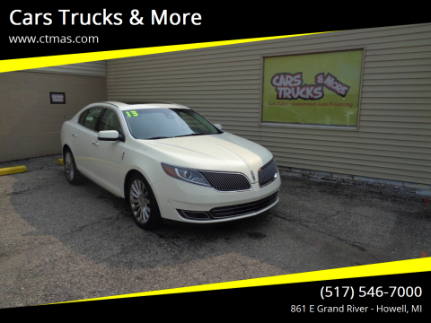 2013 Lincoln MKS for sale at Cars Trucks & More in Howell MI