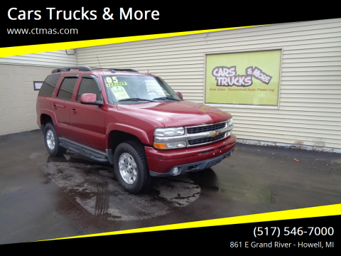 2005 Chevrolet Tahoe for sale at Cars Trucks & More in Howell MI