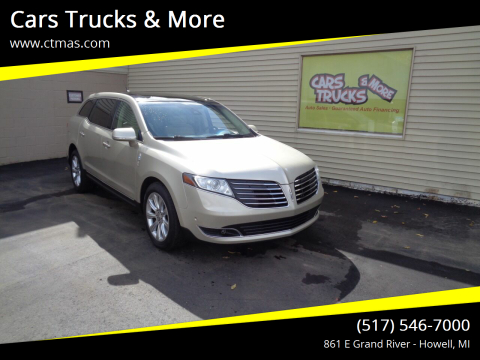 2017 Lincoln MKT for sale at Cars Trucks & More in Howell MI