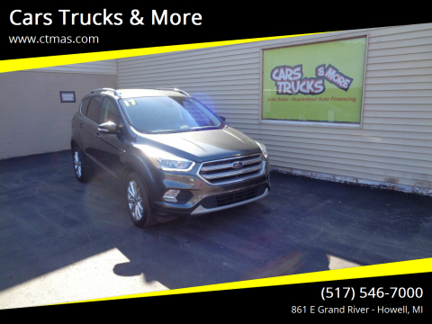 2017 Ford Escape for sale at Cars Trucks & More in Howell MI