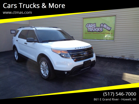 2015 Ford Explorer for sale at Cars Trucks & More in Howell MI
