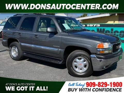 2002 GMC Yukon SLT for sale at Dons Auto Center in Fontana CA