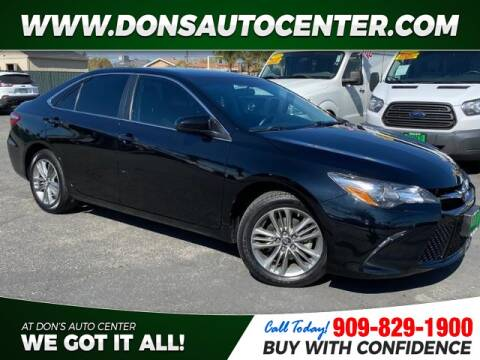 2016 Toyota Camry SE for sale at Dons Auto Center in Fontana CA