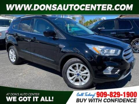 2017 Ford Escape for sale at Dons Auto Center in Fontana CA